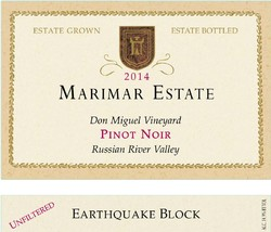 Earthquake Block Pinot Noir 2014
