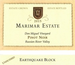 Earthquake Block Pinot Noir 2015